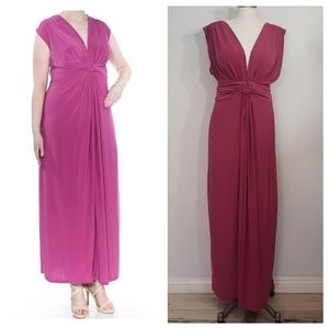 LOVE SQUARED pls sz jersey knotted front dress